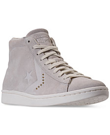 Converse Women's Pro Leather Mid Casual Sneakers from Finish Line