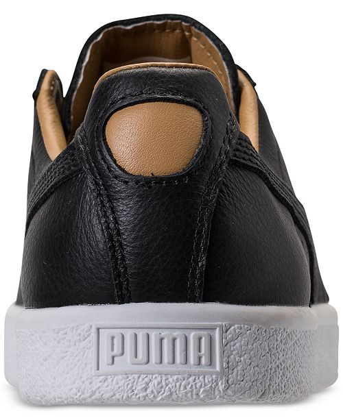 2ef2e02a76b Puma Women s Clyde Core Leather Casual Sneakers from Finish Line ...
