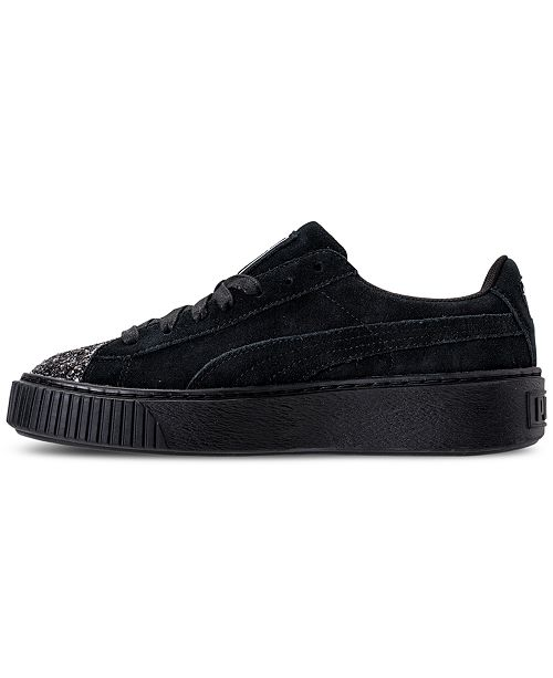 06b1c9c4798b ... Puma Women s Suede Platform Crushed Gem Casual Sneakers from Finish ...