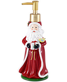 Avanti Spode Santa Lotion Pump from the Christmas Tree Collection