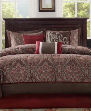 Madison Park Talbot 7Pc Queen Comforter Set Bedding