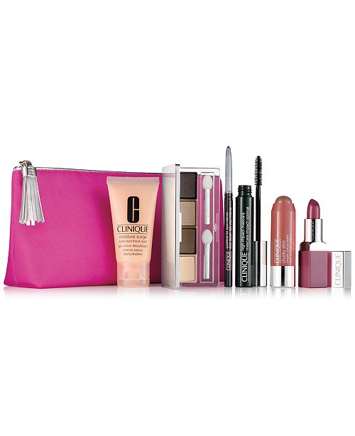 8fc8f3209f6 Clinique 7-Pc. Merry & Bright Set & Reviews - Makeup - Beauty - Macy's
