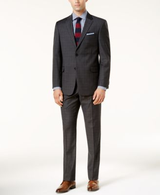 Modern-Fit Men's TH Flex Performance Plaid Suit Pants