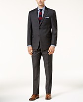 98fc2503c3b0b Tommy Hilfiger Men s Modern-Fit TH Flex Performance Plaid Suit Separates