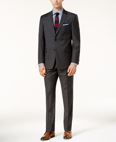 Tommy Hilfiger Men's Modern-Fit TH Flex Performance Plaid Suit Separates