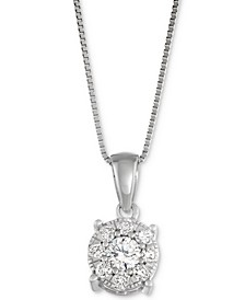 Diamond Pendant Necklace (1/3 ct. t.w.) in 14k Gold, White Gold or Rose Gold