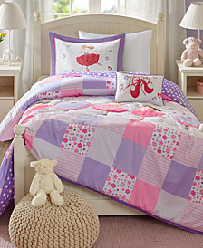 Mi Zone Kids Twirling Tutu 4-Pc. Reversible Comforter Sets