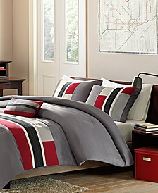 Pipeline 4-Pc. Reversible Full/Queen Comforter Set