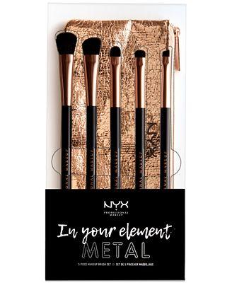 NYX Professional Makeup 6-Pc. In Your Element Metal Makeup Brush Set