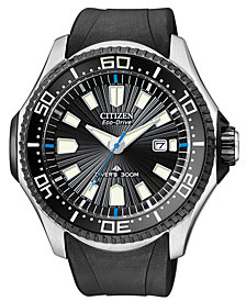 Citizen Men's Eco-Drive Promaster Diver Black Rubber Strap Watch 47mm BN0085-01E