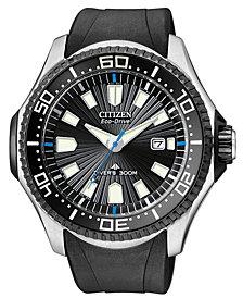 Citizen Men's Eco-Drive Promaster Diver Black Rubber Strap Watch 47mm BN0085-01E