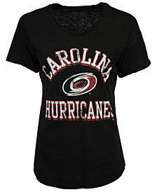 Retro Brand Women's Carolina Hurricanes Rolled Sleeve Rounded T-Shirt