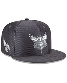 New Era Charlotte Hornets On-Court Graphite Collection 9FIFTY Snapback Cap
