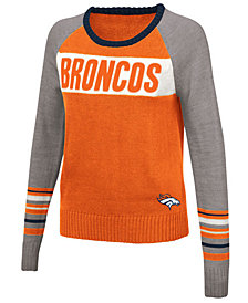 Touch By Alyssa Milano Women's Denver Broncos Team Spirit Sweater