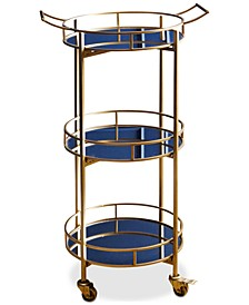 Brenna 3-Tier Bar Cart, Quick Ship