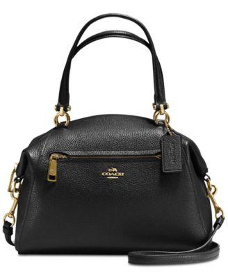 d853d69e49af COACH Prairie Satchel in Pebble Leather   Reviews - Handbags   Accessories  - Macy s