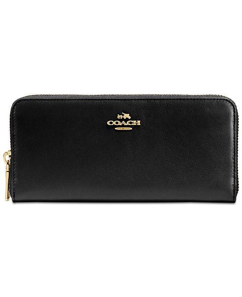 068433ea33 COACH Slim Accordion Zip Wallet in Smooth Leather   Reviews ...
