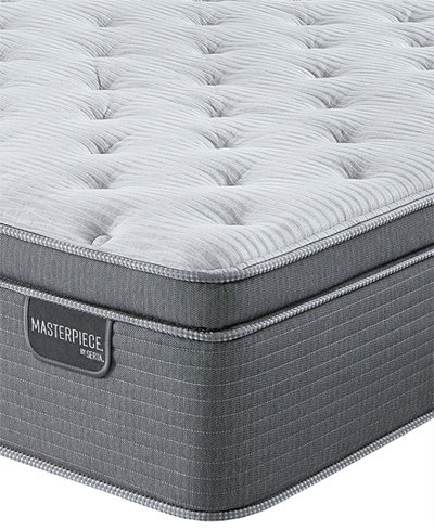 Serta Masterpiece William 17'' Luxury Firm Euro Pillow Top Mattress - Queen, Created for Macy's
