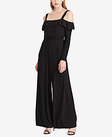 American Living Off-The-Shoulder Wide-Leg Jumpsuit
