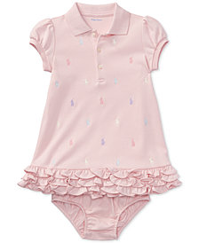 Ralph Lauren Embroidered Polo Dress, Baby Girls