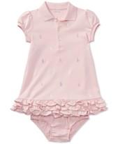 f5269e9c22d Ralph Lauren Baby Girls Embroidered Polo Dress