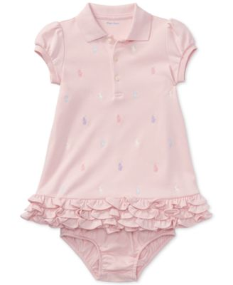 Ralph Lauren Baby Girls Embroidered Polo Dress. 30 reviews. $35.00. main  image; main image ...