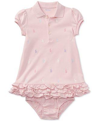 Polo Ralph Lauren Ralph Lauren Baby Girls Embroidered Polo Dress