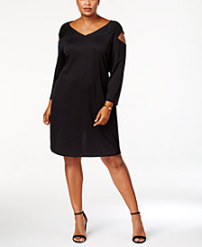 Love Scarlett Plus Size Cold-Shoulder Dress