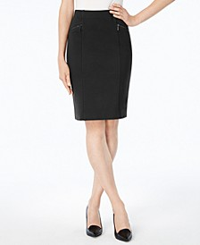 Petite Ponte Pencil Skirt, Created for Macy's