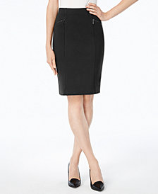 Alfani Petite Ponte-Knit Pencil Skirt, Created for Macy's
