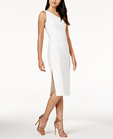 Mare Mare Caliz One-Shoulder Lace-Up Dress