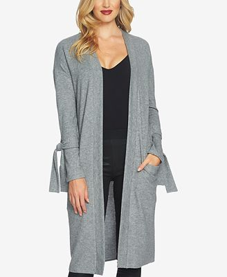1.STATE Tie-Cuff Cozy Duster Cardigan