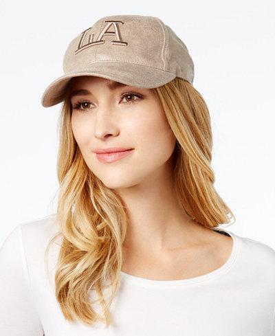 August Hats Metallic LA Baseball Cap
