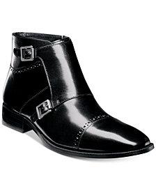 Stacy Adams Men's Kason Double-Monk Strap Cap-Toe Zip Boots