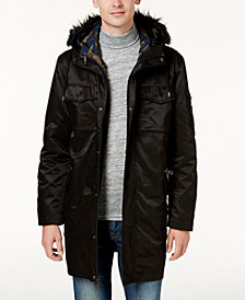 GUESS Men's High Ridge Twill 2pc Parka