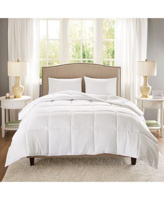 Copper-Infused Microfiber White Twin/Twin XL Down-Alternative Comforter
