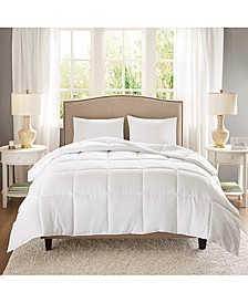 Copper-Infused Microfiber White King/California King Down-Alternative Comforter