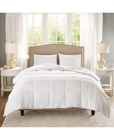Copper-Infused Microfiber White Full/Queen Down-Alternative Comforter