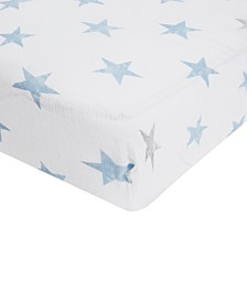 Baby Boys Cotton Dapper Printed Crib Sheet
