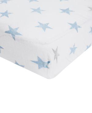 Image of aden by aden + anais Baby Boys Cotton Dapper Printed Crib Sheet
