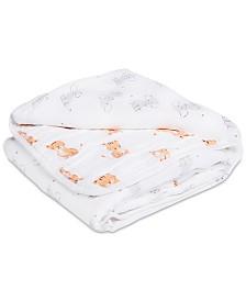 aden by aden + anais Baby Boys & Girls Cotton Elephant & Tiger-Print Muslin Blanket