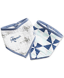 aden by aden + anais Baby Boys 2-Pk. Cotton Sky High Printed Bandana Bibs