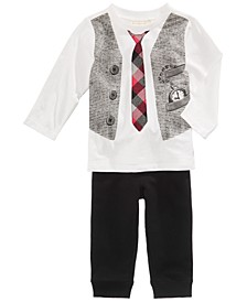 Vest-Print T-Shirt & Jogger Pants, Baby Boys, Created for Macy's