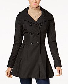 Calvin Klein Skirted Hooded Raincoat