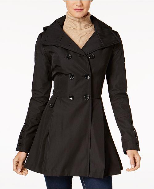 Skirted Hooded Raincoat