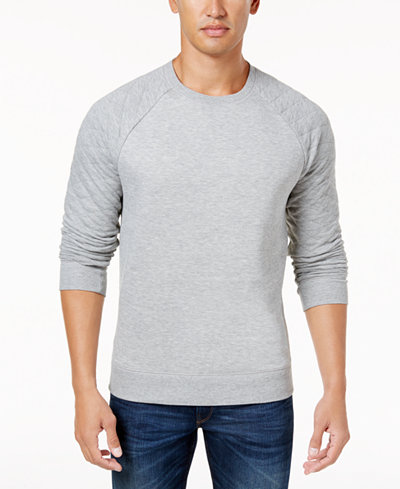 Club Room Men's Quilted Sweatshirt, Created for Macy's - Hoodies ... : quilted sweatshirt - Adamdwight.com