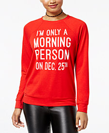 Rebellious One Juniors' Morning Person Graphic Top