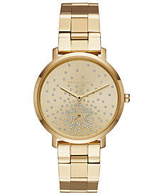 Michael Kors Women's Jaryn Gold-Tone Stainless Steel Bracelet Watch 38mm, Created for Macy's