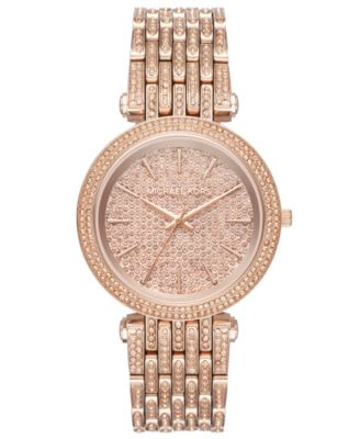 Michael Kors Womens Darci Rose GoldTone Stainless Steel Bracelet