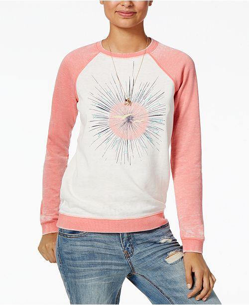 Roxy Juniors' Contrast Graphic Sweatshirt